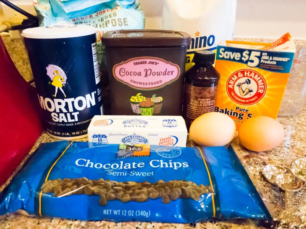 Ingredients - Double Choc Cookies