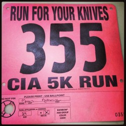 "CIA's ""Run for your Knives"" 5K"