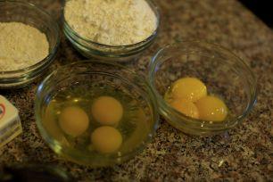 Eggs, Powdered Sugar, Flour