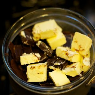 Butter + Bittersweet Chocolate + Semisweet Chocolate