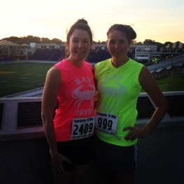 Pre-Run w/ my running awesome buddy, Carrianne!