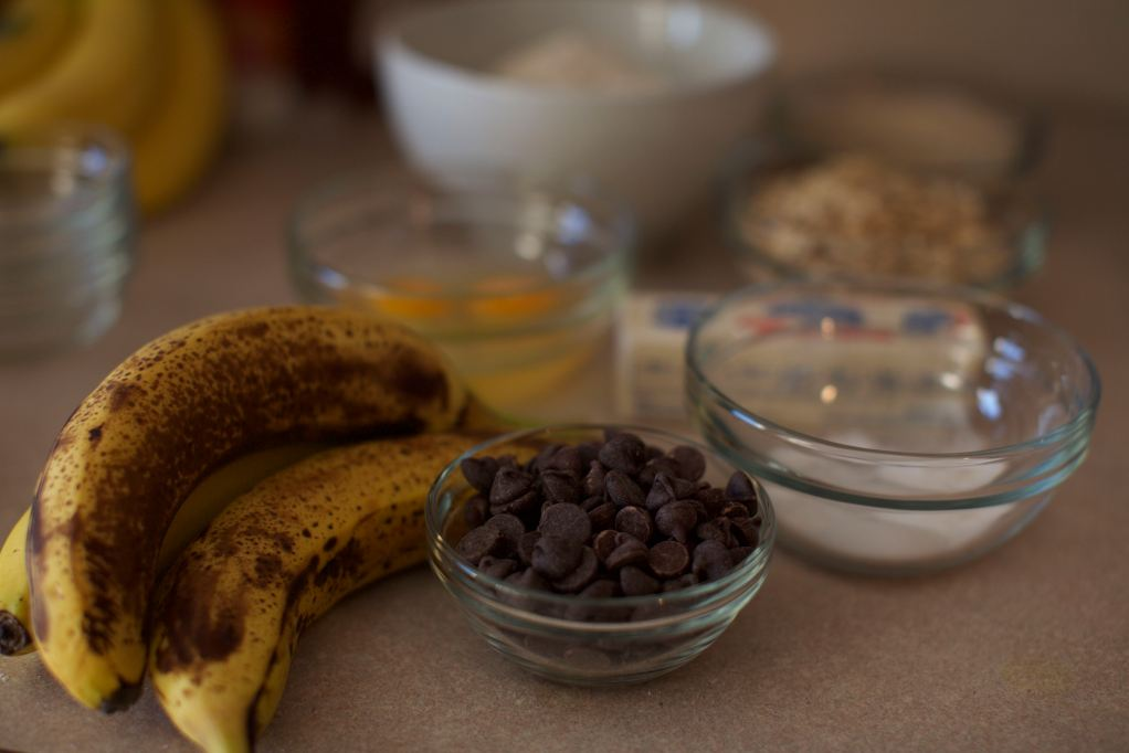 Over-ripe Bananas & Chocolate Chips