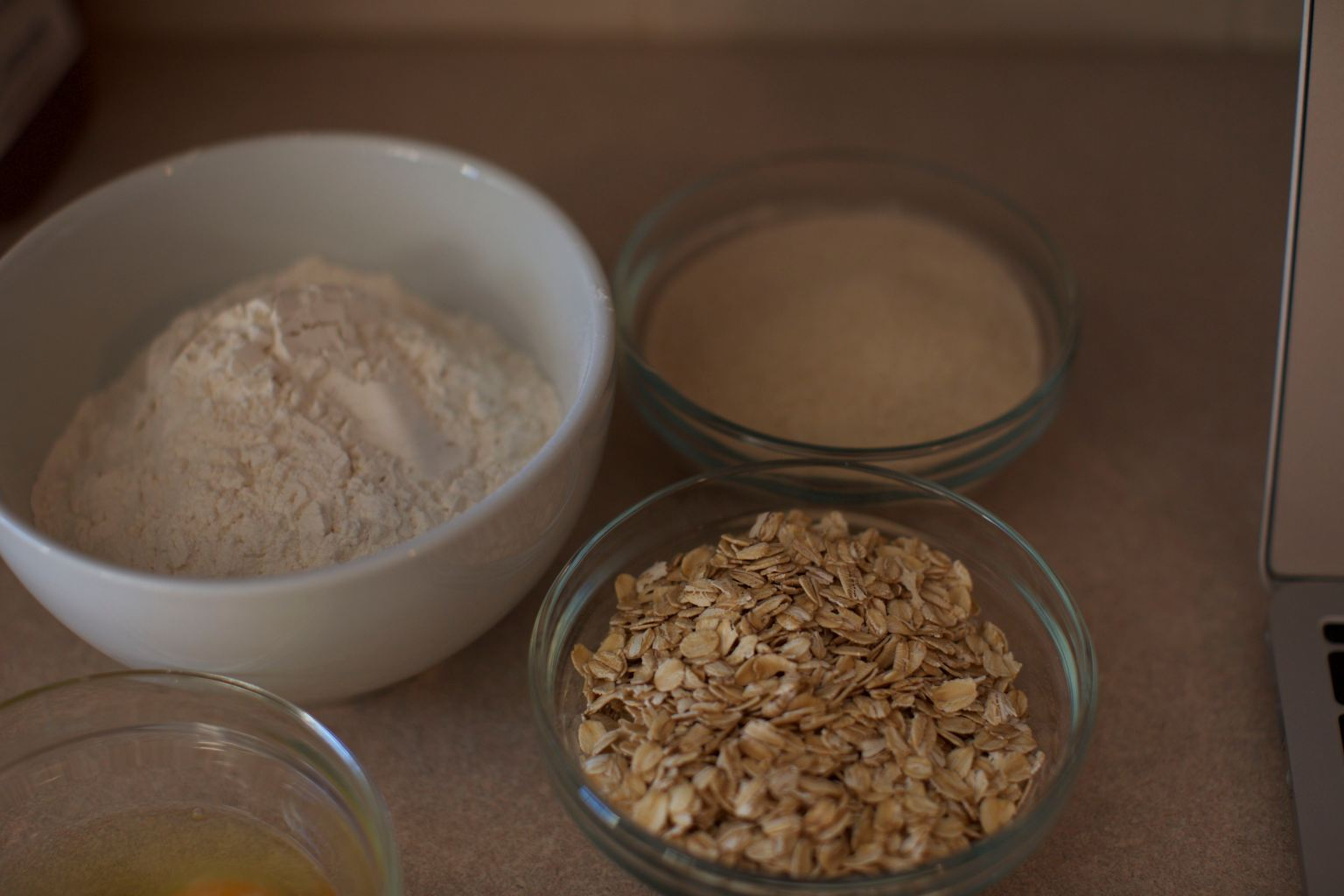 Flour, Oats, Sugar