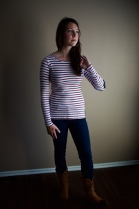 Greenich Striped Knit Top (by Pixley)