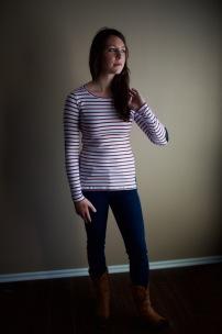 Greenich Striped Knit Top (by Pixley)